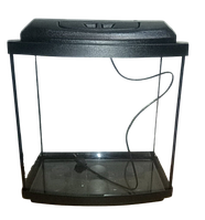 Аквариум овальный 38 л с крышкой,светильником и поддоном 3 в 1, 40*25*40 см, 4 мм