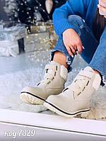 Зимние ботиночки  из эко-кожи 40 размер, фото 1