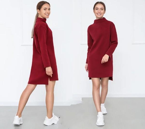 Женское зимнее платье на флисе Esse