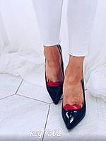 Черные туфли  из лаковой эко-кожи 35 размер, фото 1
