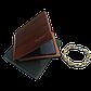 Подарунковий набір №8. Чоловіче портмоне (гаманець) Fuerdanni + чоловічий браслет Stainless Steel, фото 2