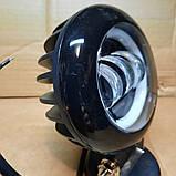 Фара диодная с стг и  светящимся ободком 30W, фото 3