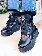 Зимние кожаные ботинки 36 размер, фото 1