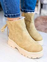 Зимние бежевые кроссовки 41 размер, фото 1