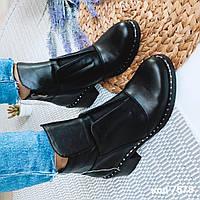 Демисезонные кожаные ботинки 37 размер, фото 1
