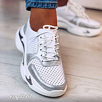Белые кожаные кроссовки 36 размер, фото 1