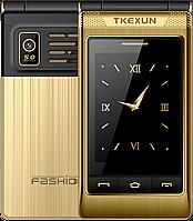 "Телефон-раскладушка TKEXUN G10-1 3G Металлический корпус, 5800 mAh, FM, Сенсорный дисплей 3"", Yeemi G10-1 3G, фото 1"