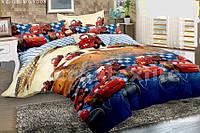 Комплект детского постельного полуторного белья Тачки Маквин, ранфорс, 100% хлопок, фото 1