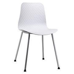 Стілець пластиковий P-02 білий фарбований метал