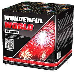 Фейерверк Салют WONDERFUL WORLD 19 выстрелов 30 калибр + веер | GWM5034 Maxsem