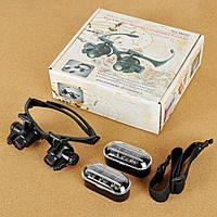 Бинокуляр очки бинокулярные со светодиодной подсветкой 9892G