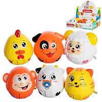 Детская музыкальная игрушка - неваляшка в виде зверушек. Детские игрушки, подарки на новый год