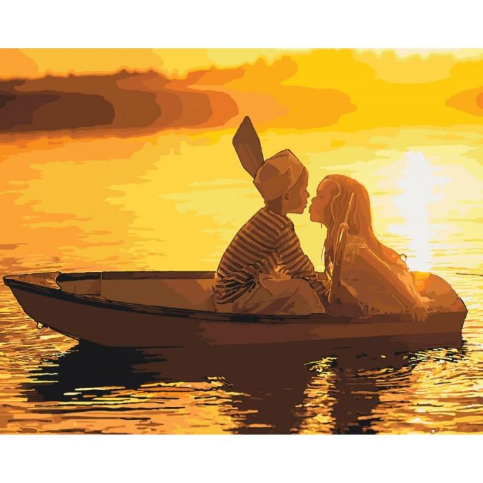 Картина по номерам Первая любовь ТМ Идейка 40 х 50 см КНО2322