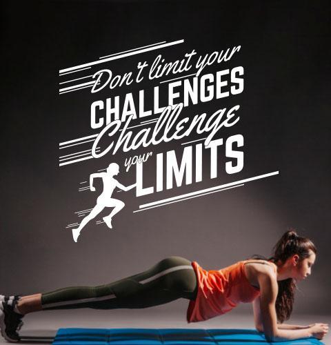 Вінілові наклейки Змінюйся (мотиватор спорт декор спортзалу англійський текст на стіну) матова 970х900 мм