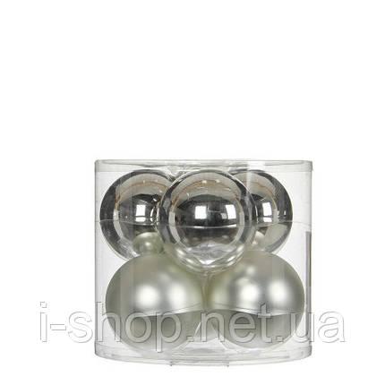 """Елочные шарики 6 шт., """"House of Seasons"""" комплект, цвет серый, фото 2"""