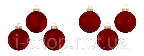 """Елочные шарики 6 шт., """"House of Seasons"""" комплект, цвет красный, фото 2"""