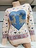 Красивый женский свитер с оленями Gerekli 4648 (в расцветках 42-46), фото 2