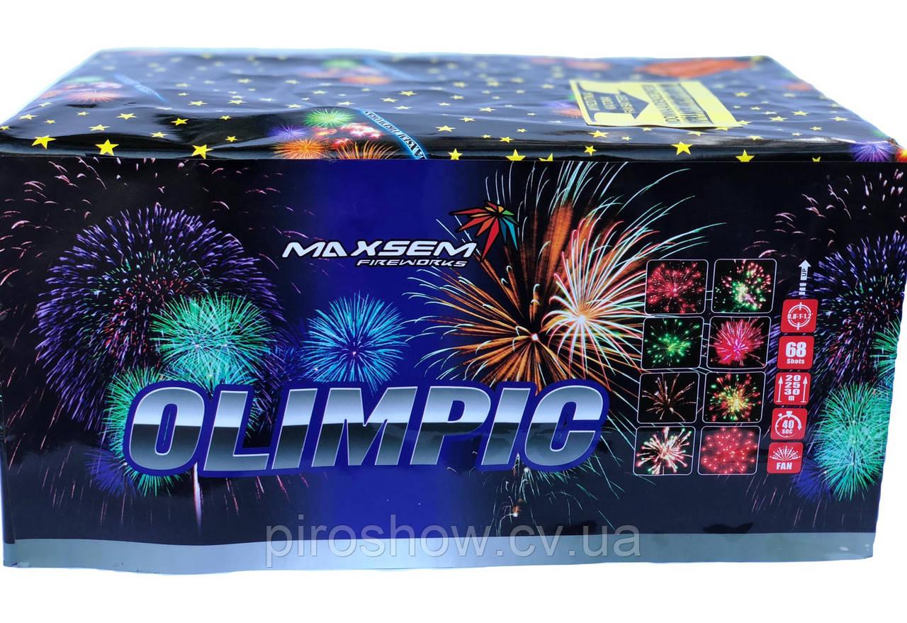 Салютная установка OLIMPIC 68 выстрелов/20/25/30 калибр   Фейерверк MC120