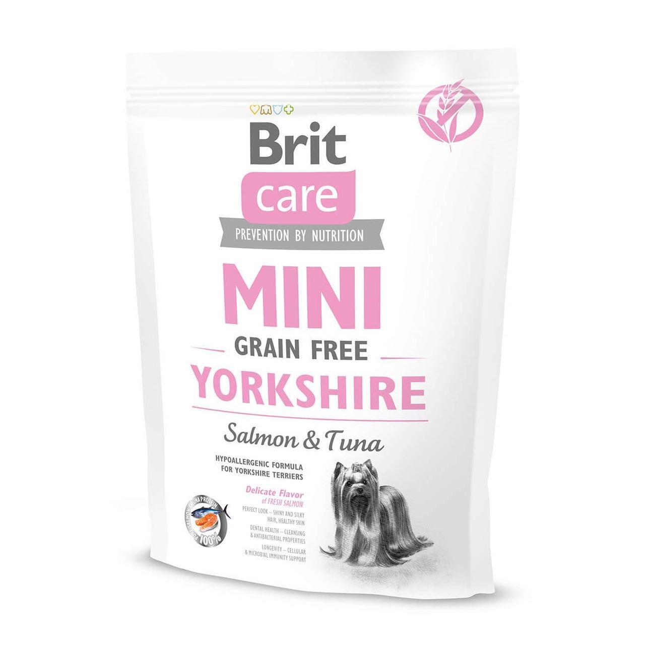 Сухой корм для йоркширских терьеров Brit Care Mini GF Yorkshire 400 г (лосось и тунец)