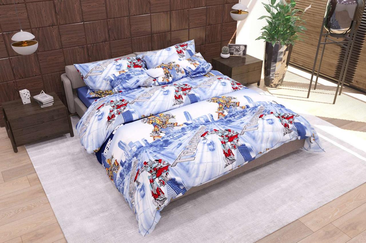 Комплект детского постельного полуторного белья Трансформеры, Бязь Люкс