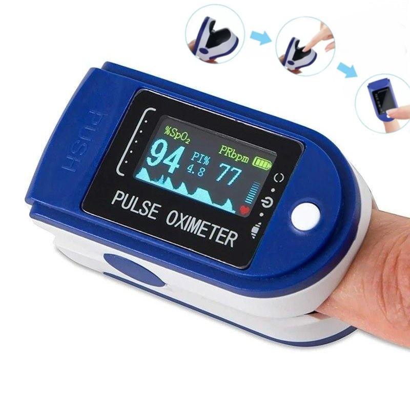 Пульсометр оксиметр на палец Измеритель пульса беспроводной Измеритель кислорода в крови