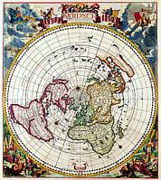 Старинная оригинальная карта 100см х 112см