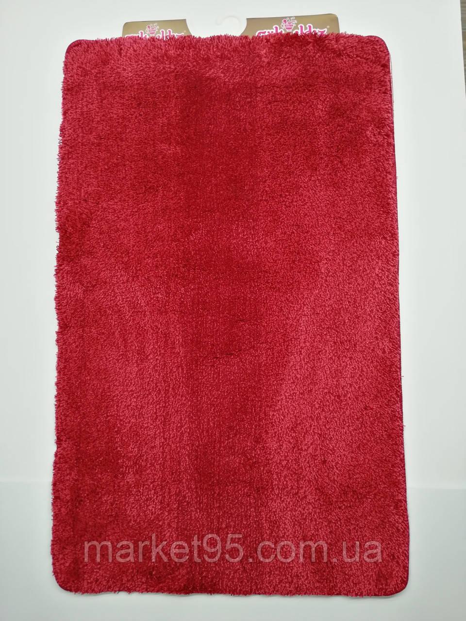 Килимки в ванну і туалет, набір 100*60 Vonaldi червоний