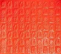 Декоративна самоклеюча стінова 3D панель (3D шпалери) Wall Sticker ECO під цеглу з ПП, ПВХ миється,