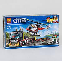 10872 Конструктор Bela Cities Перевозка тяжелых грузов 322 детали, в коробке