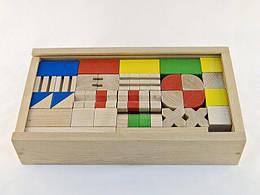 Набір дерев'яних кубиків Юний архітектор