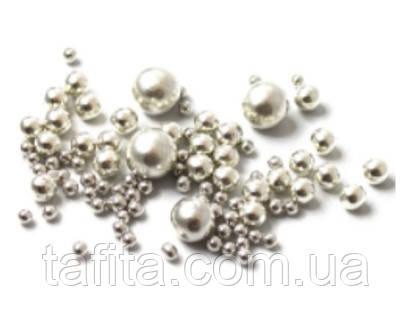 Бусины сахарные серебро 12-14 мм. 50 г.