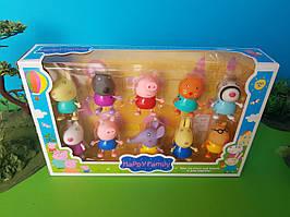 Игровой набор друзья Свинки 10 персонажей