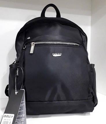 Женский рюкзак городской молодежный черный тканевый Dolly 385, фото 2