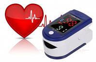 Пульсометр Oximeter BL-230 на палец для измерения кислорода медицинский беспроводной пульсоксиметр Синий