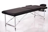 Переносной массажный стол двухсегментный легкий складная кушетка для массажа RESTPRO ALU 2 Черный