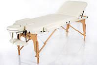 Портативный массажный стол 3 сегментный деревянный кушетка переносная складная RESTPRO VIP 3 Беж