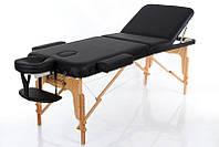 Складная массажная кушетка косметологическая стол для массажа регулировка высоты RESTPRO VIP 3 Черный