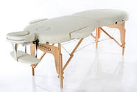 Складной портативный массажный стол деревянный переносная кушетка для массажа RESTPRO VIP OVAL 2 Беж