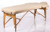 Складной стол для массажа регулировкой высоты на деревянном основании двухсекционный RESTPRO Memory 2 Беж