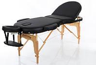 Кушетка массажная разборная Стол массажный складной 3-х секционный деревянный RESTPRO VIP OVAL 3 черный цвет