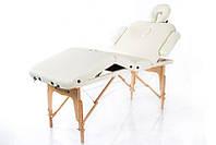 Массажный стол 4-х сегментный деревянный переносной регулировкой съёмного подголовника RESTPRO VIP 4