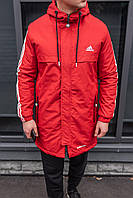 Куртка мужская зимняя, парка мужская красная,зимняя куртка Адидас мужская