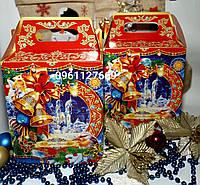 Новогодняя подарочная коробка-упаковка
