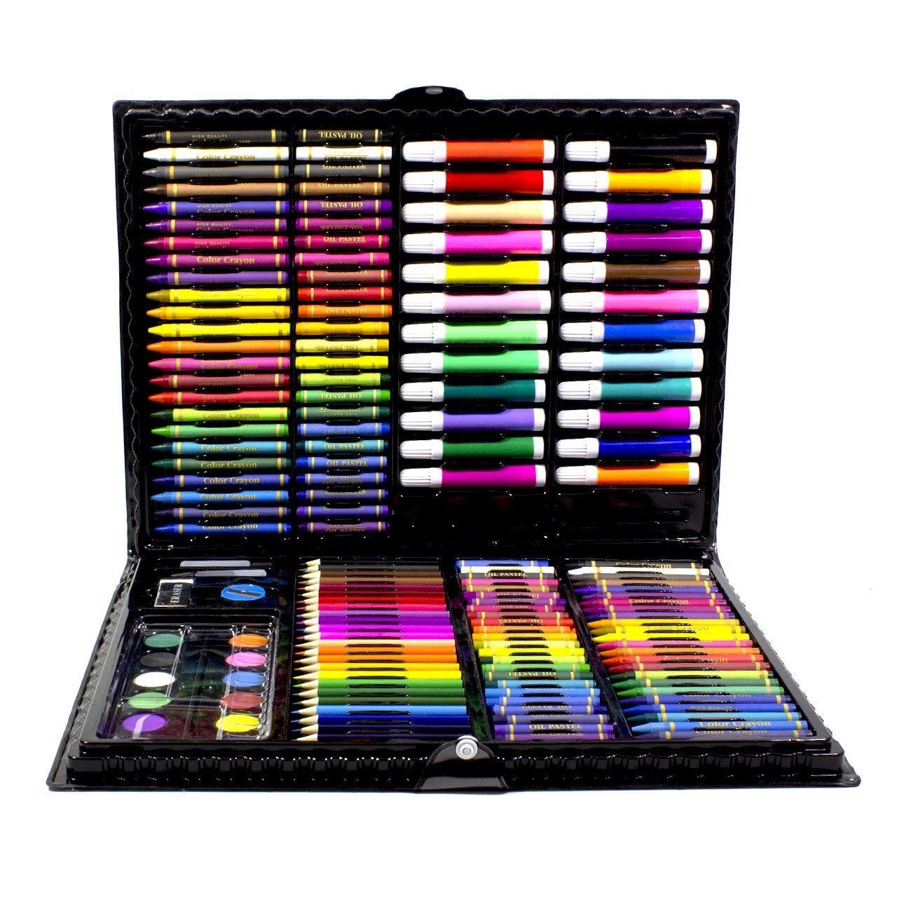 Большой набор для детского творчества и рисования Super Mega Art Set Black 168 предметов (3962-11497)
