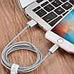Кабель Hoco U16 Lightning-USB магнитный коннектор Silver (3101-9672), фото 5