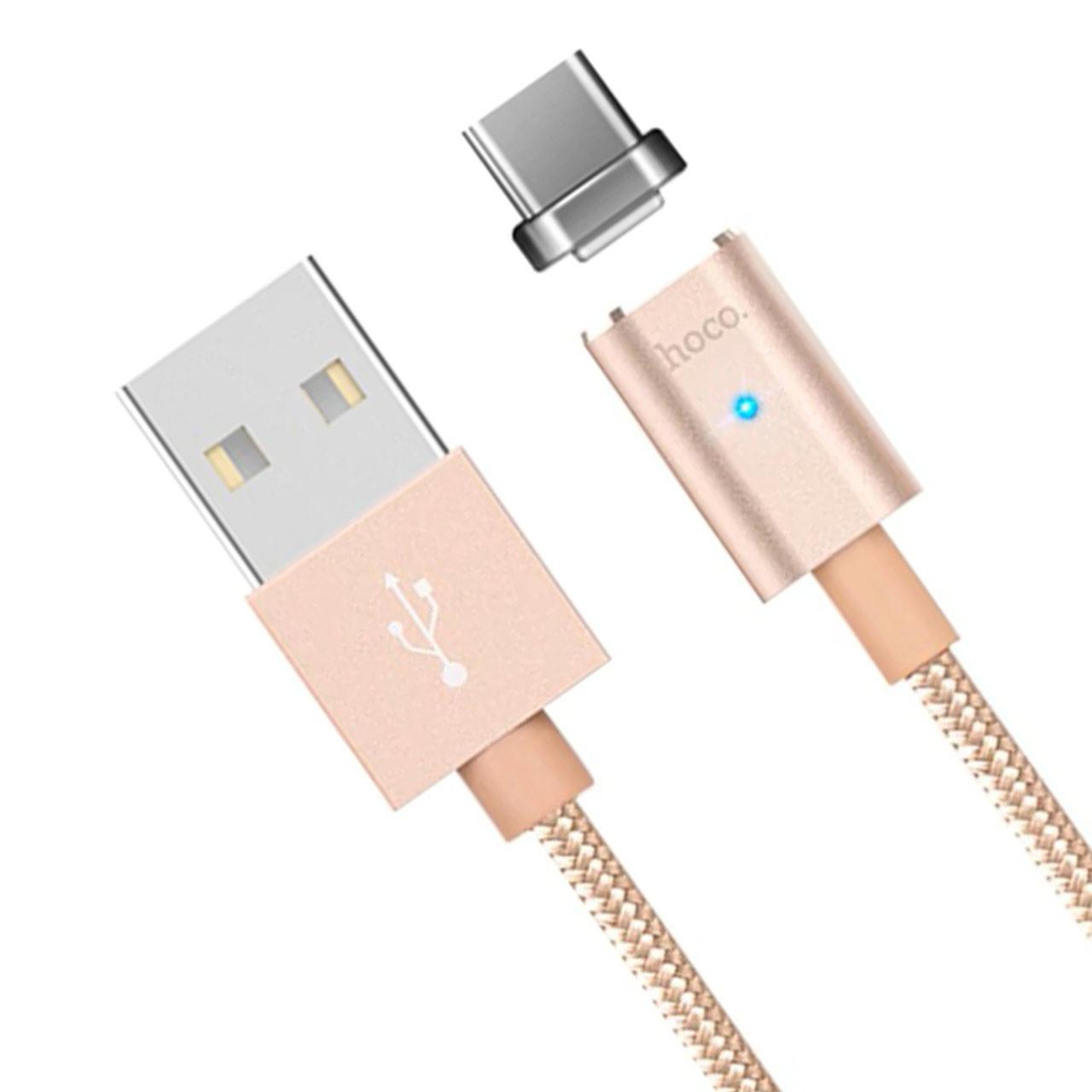 Кабель Hoco U16 USB-Micro USB магнитный коннектор Gold (3014-9673)