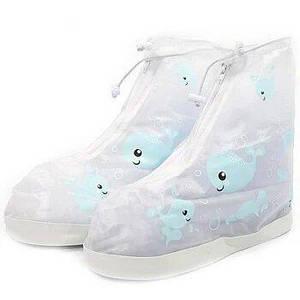 Детские резиновые бахилы Lesko на обувь от дождя Кит Blue р.34-35 водонепроницаемые (3714-12200)