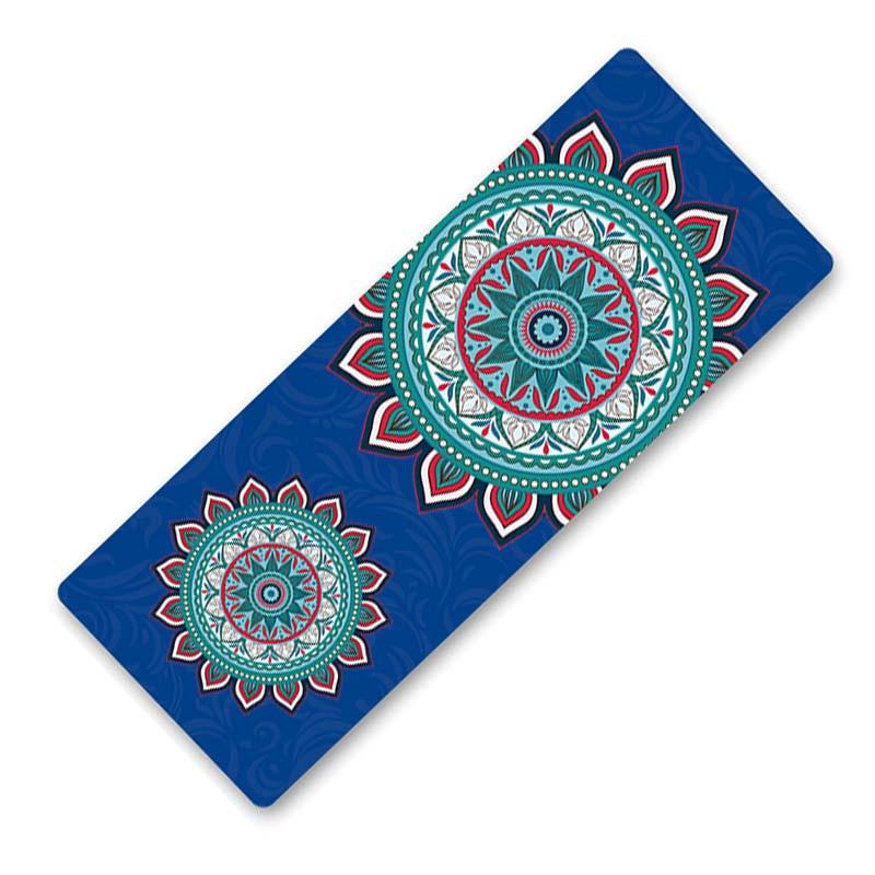 Коврик для фитнеса и йоги Dingming YZS-16 TPE 1830*660*6mm Гибискус Blue (4825-15355)