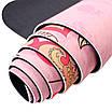 Килимок для занять фітнесом і йогою Dingming YZS-16 TPE 1830*660*6mm Найкращий час Pink (4825-15356), фото 2