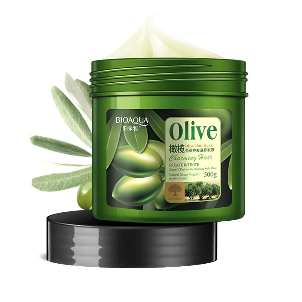 Маска для волосся BIOAQUA Olive Hair Mask з маслом оливи 500г Оригінал (4552-13344)
